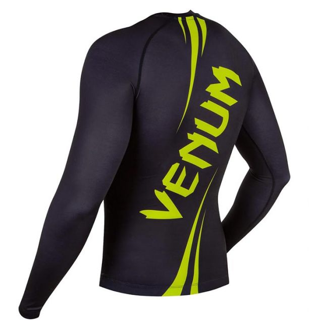 ΜΑΚΡΥΜΑΝΙΚΟ RASH GUARD VENUM CHALLENGER - BLACK/YELLOW
