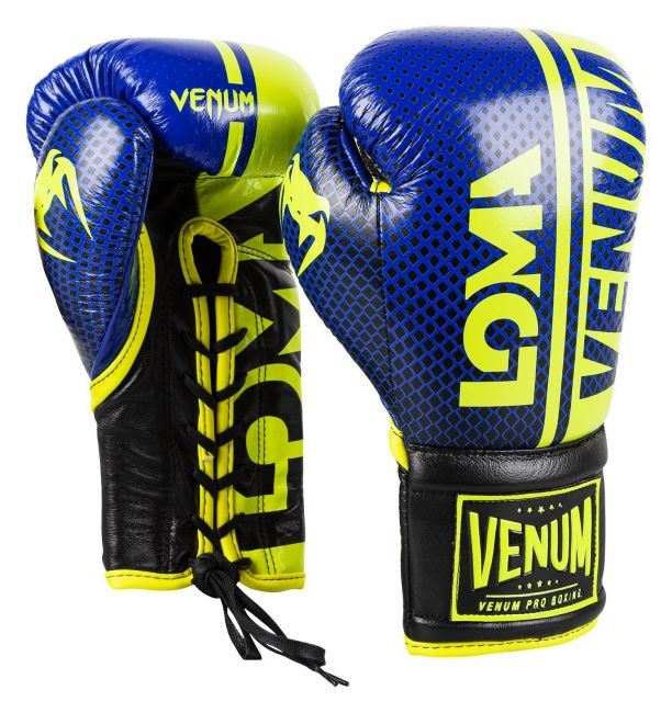 Venum Shield Pro Boxing Gloves Loma Edition With Laces - Blue/yellow