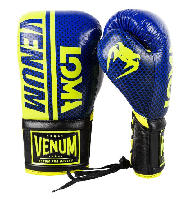 Venum Shield Pro Boxing Gloves Loma Edition With Laces - Blue/yellow, image 1