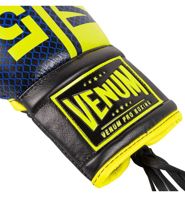 Venum Shield Pro Boxing Gloves Loma Edition With Laces - Blue/yellow, image 2