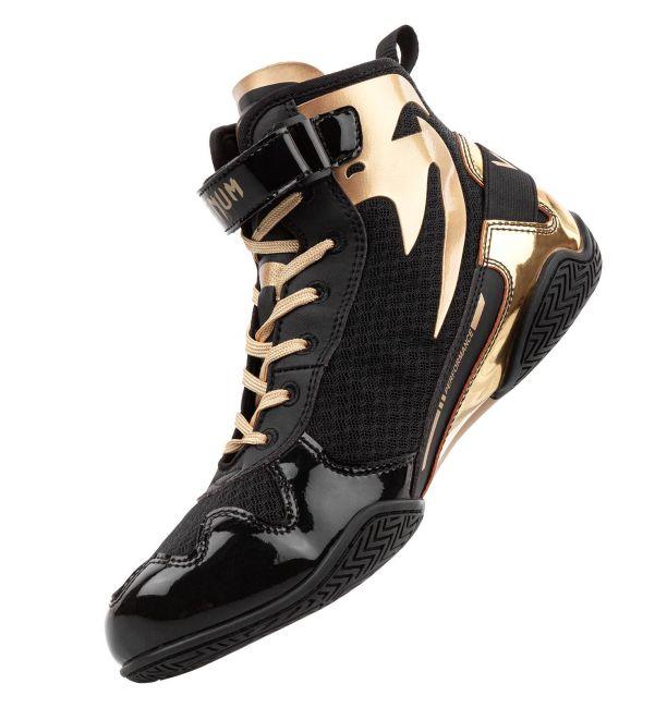 Venum Giant Low Boxing Shoes Black/Gold, image 1