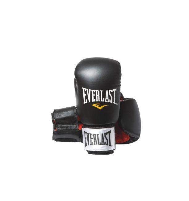ΓΑΝΤΙΑ Everlast Fighter - Δερμάτινα γάντια προπόνησης - Black